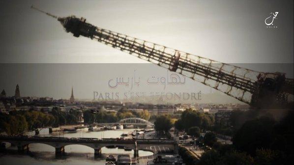 Zniszczona wieża Eiffla w filmie ukazanym przez PI.