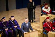 Senat UJ apeluje do prezydenta Andrzeja Dudy o mediacje. Na zdjęciu prezydent podczas inauguracji roku akademickiego UJ w 2015 r.