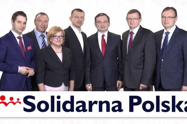 Plakat wyborczy Solidarnej Polski