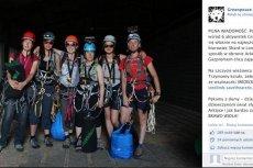 Aktywistki Greenpeace'u przed rozpoczęciem wspinaczki na wieżowiec Shard