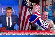 Od lewej: były rzecznik lokalnego PiS, a obecnie pracownik TVP, Michał Rachoń, wraz ze swoim częstym gościem, prawicowym publicystą Wojciechem Cejrowskim.