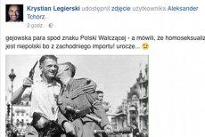 Krystian Legierski o gejach w służbie Polski Walczącej. Udostępnił wpis, ale czy sprawdził jego wiarygodność?
