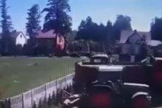 Do sieci trafiło nagranie z tragicznego wypadku w Myszyńcu Starym.