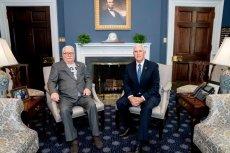 Lech Wałęsa spotkał się w USA z wiceprezydentem Mike'em Pencem.