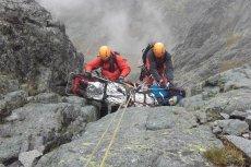 Niebezpieczny wypadek Polaka w słowackich Tatrach. Tak wyglądała akcja ratunkowa.