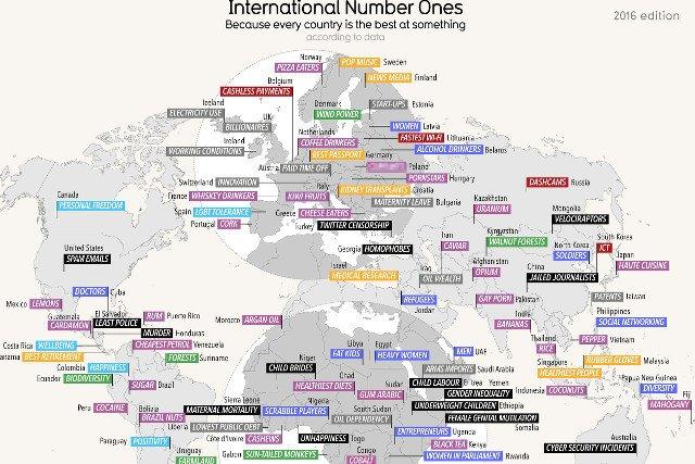 Powstała bardzo oryginalna mapa świata.