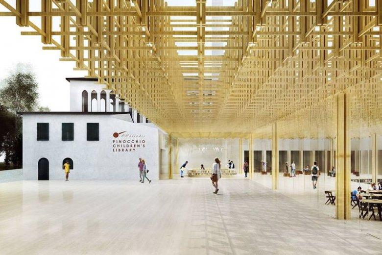 Projekt biblioteki w Toskanii