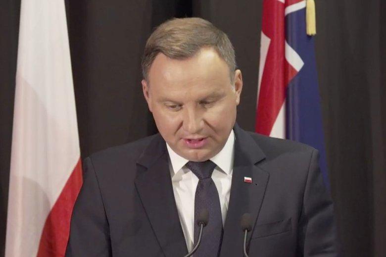Osobliwa wpadka prezydenta w Nowej Zelandii.