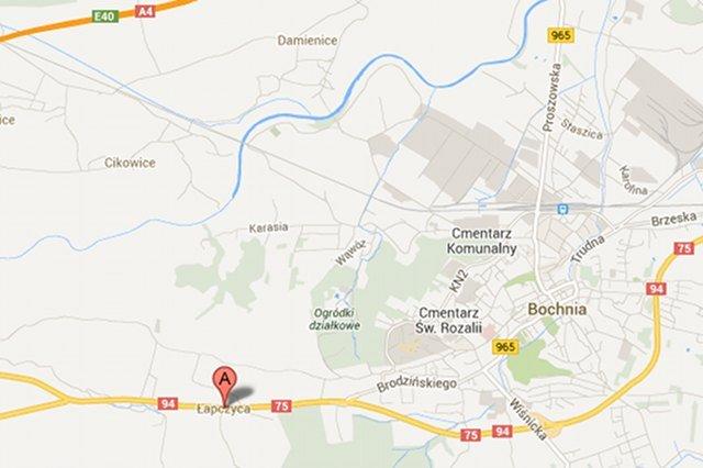 Wieś Łapczyca, na terenie której doszło do wypadku, znajduje się obok miasta Bochnia