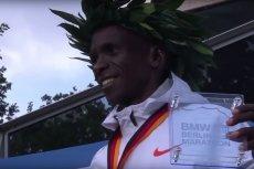 Eliud Kipchoge pobił w Berlinie rekord świata w biegu maratońskim.