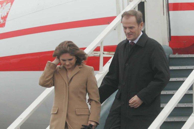 Donald Tusk z żoną podczas oficjalnej wizyty na Litwie.