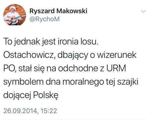 """A tak bard i """"kabareciarz"""" dobrej zmiany Ryszard Makowski."""