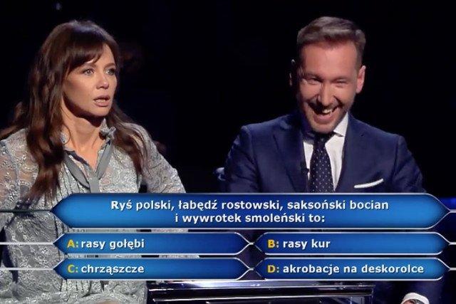 """Pytanie za milion w odcinku specjalnym """"Milionerów""""."""