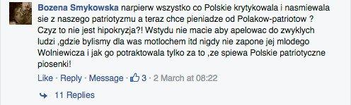 """Komentarz do tekstu: """"Nazywam się Olga Sipowicz, jestem piosenkarką"""". Kora prosi o wsparcie - miesięczny koszt leków to 24 tys. zł"""