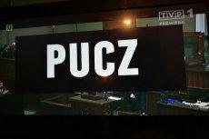 """Nad filmem """"Pucz"""" mieli pracować Adam Bielan i Jacek Kurski."""