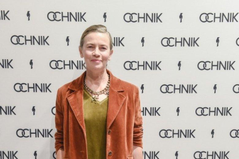Lidia Popiel na otwarciu salonu OCHNIK