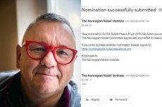 Dziennikarz TVN Turbo zgłosił nominację Jurka Owsiaka do Pokojowej Nagrody Nobla.