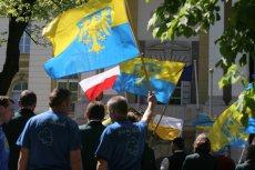 Protest Ślązaków pod KPRM