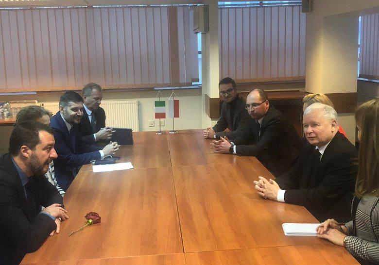 Salvini został przyjęty przez Kaczyńskiego w siedzibie PiS na Nowogrodzkiej