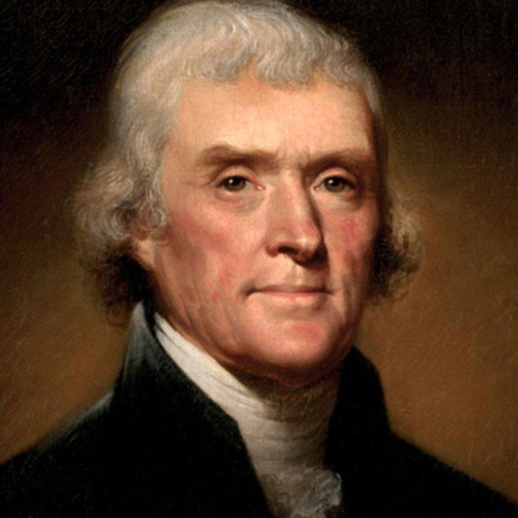 Portret Jeffersona, autorstwa Rembrandta Peale'a.