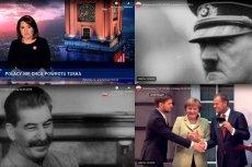 """Czeski dziennikarz Filip Harzer zwrócił uwagą na materiał """"Wiadomości"""" TVP na temat wykładu Donalda Tuska. W programie publicznego nadawcy pojawiły się kadry z wizerunkami Adolfa Hitlera i Józefa Stalina."""
