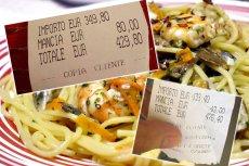 Pewna włoska restauracja zasłynęła w sieci horrendalnymi cenami za swoje dania.