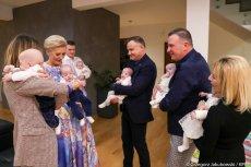 Para prezydencka odwiedziła rodzinę polskich sześcioraczków.