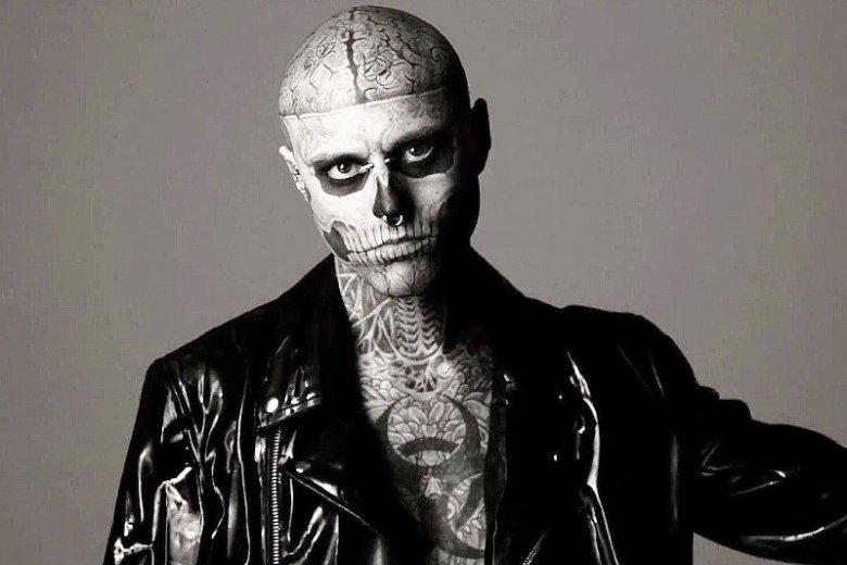 Rick Genest znany jako Zombie Boy miał34 lata.