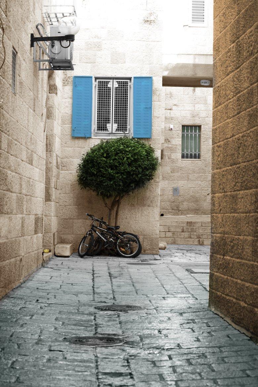 Wąska uliczka w Jerozolimie