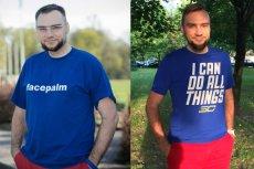 Po lewej: Paweł Lipiec - niebiegający (kwiecień 2014). Po prawej: Paweł Lipiec - wersja ulepszona półtorarocznymi treningami (wrzesień 2015)