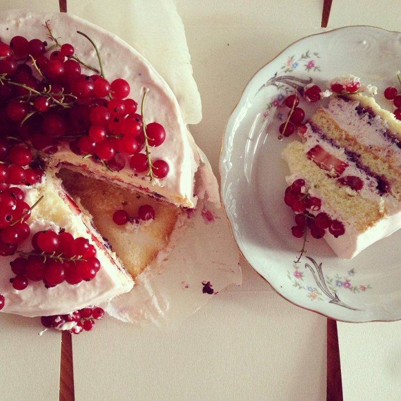 Porzeczkowy tort z Cukier Project