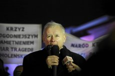 Jarosław Kaczyński podczas marszu w Warszawie