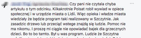 Komentarz internauty.