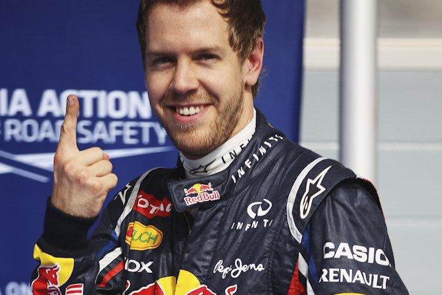 Sebastian Vettel znów miał okazję, by pokazać ten gest