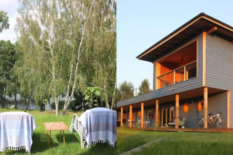 W błękitnym domku odpoczniemy od zgiełku miasta. W okolicy możemy również pływać kajakiem i SUPem