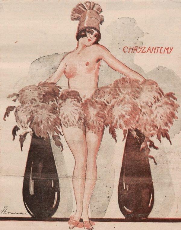 """Ilustracja okładkowa magazynu """"Bocian"""", 1925 r."""