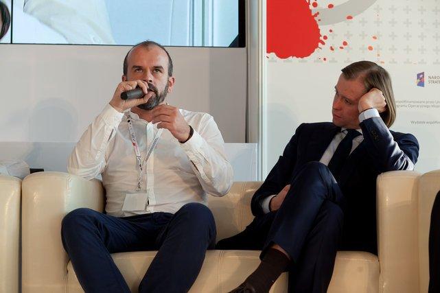 Mateusz Tułecki Agora i Mariusz Frankowski Dyrektor Mazowieckiej Jednostki Wdrażania Programów Unijnych