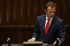 Zbigniew Ajchler podczas jednego z przemówień w Sejmie.