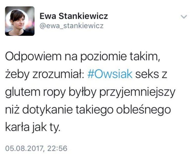 Post, który Ewa Stankiewicz usunęła. Nie dziwimy się.