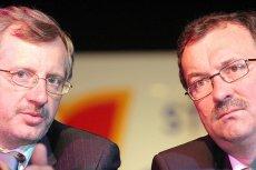 Były i obecny lider SLD. Marek Siwiec i Włodzimierz Czarzasty