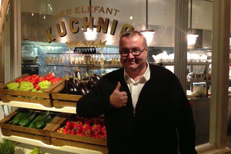 Artur Jarczyński - właściciel Piwnej Kompanii, U Szwejka, Bazyliszka, St. Antonio, der Elefant