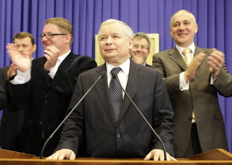 Michał Kamiński, Jarosław Kaczyński i Joachim Brudziński, 2009 rok.