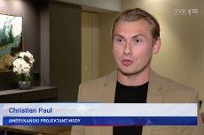 """Według """"Wiadomości"""" ten mężczyzna to Christian Paul, amerykański projektant mody."""