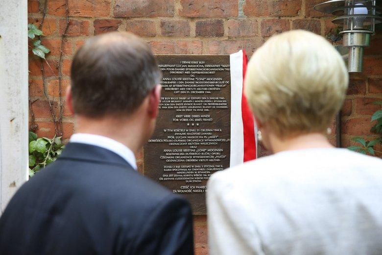 Para prezydencka podczas uroczystości uhonorowania małżeństwa Masłochów.