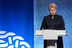 Prezydent Litwy Dalia Grybaus.