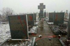 Zniszczone nagrobki w Hucie Pieniackiej. Według SBU pomniki zostały zdewastowane na zlecenie rosyjskich służb specjalnych.
