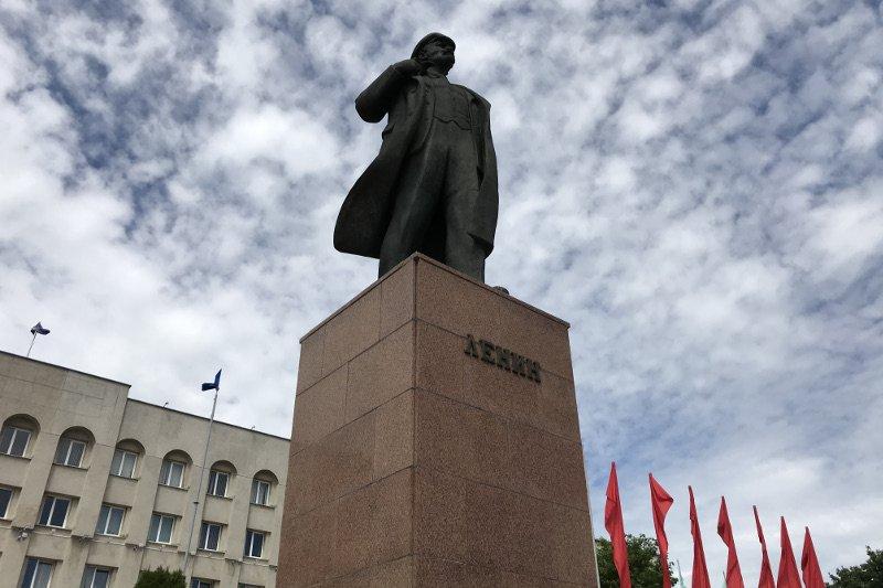 Pomnik Włodzimierza Lenina w Grodnie.