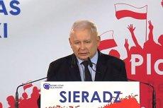 Jarosław Kaczyński wychwalał w Sieradzu Janusza Wojciechowskiego.