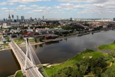 Panorama Warszawy z lotu ptaka