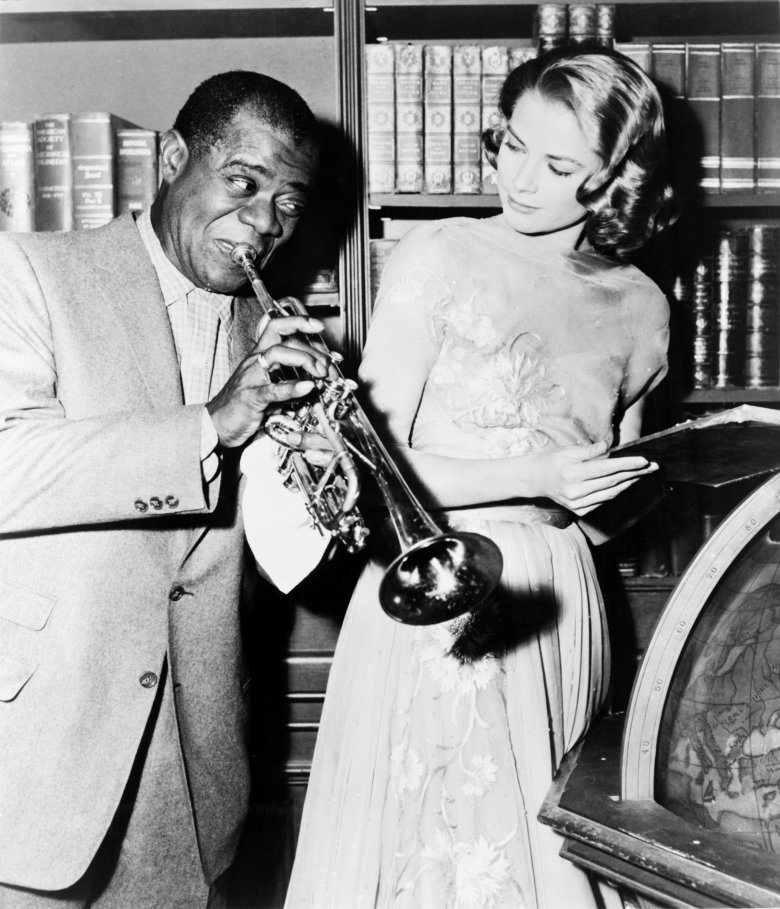 Grace Kelly i Louis Armstrong